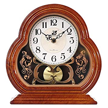 Guyuan Relojes Retro Europeos Personalidad Creativa Reloj de péndulo Pantalla de Escritorio de Moda Antigua Sala de Estar Reloj silencioso: Amazon.es: Hogar