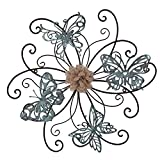 Home's Art Flower and Butterfly Urban Design Metal Wall Decor for Nature Home Art Decoration & Kitchen Gifts
