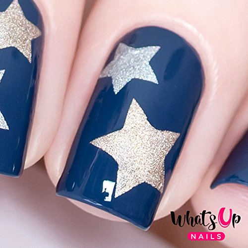 Whats Up Nails - Northern Star Vinyl Stencils for Christmas Nail Art Design (1 Sheet, 20 Stencils)