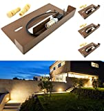SRRB Direct Low Voltage Hardscape Paver Recessed Retaining Wall Step Light Fixture w/LED Bulb (4, Warm White LED)