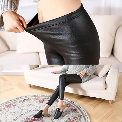 Push Donne Vita Leggings Collant Matita Pelle Jeans Faux Multicolore Neri Skinny Up Donna Leather Di Alta Pantalone Pantaloni wUXxWR4PqP