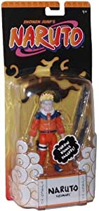 Naruto Shonen's Jump Year 2006 Basic 4-1/2 Inch Tall Action Figure - Naruto Uzumaki with 2 Kunai Daggers