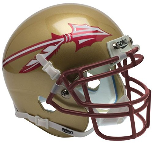 NCAA Florida State Seminoles Matte Gold Mini Helmet, One Size, White by Schutt