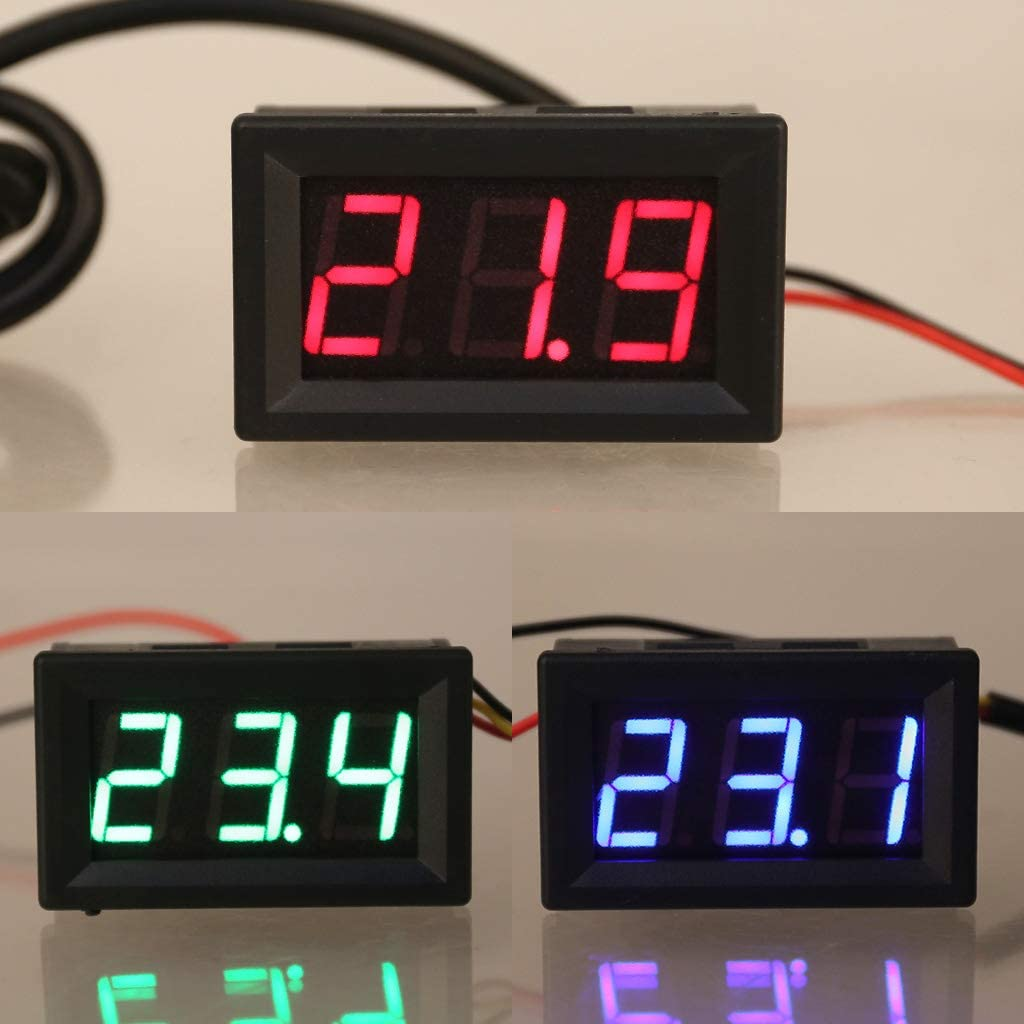 0,56DS18B20 Digital Thermometer Wasserdichte Temperaturf/ühler Sonde DC 12 V 24 V