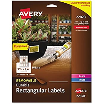 Amazon Avery Easy Peel Print To The Edge Permanent White