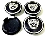 xj wheel center caps - 4 New Jaguar S Type X Type XJ8 XK8 XKR Wheel Center Cap Black