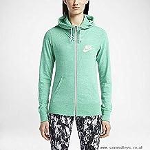 Nike Womens Gym Vintage Full-Zip Hoodie Green
