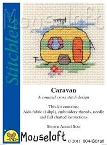 MOUSELOFT STITCHLETS CROSS STITCH KIT ~ NARROWBOAT ~ NEW