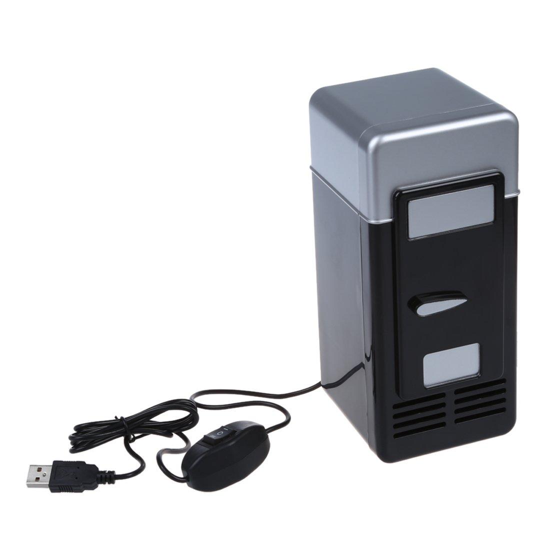 Globalflashdeal PC USB Refrigerateur Frigo Boissons Canette de Boisson Chauffe Refroidisseur