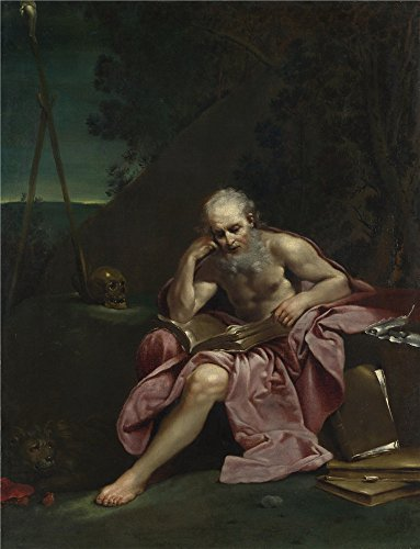 Oil Painting 'Giuseppe Maria Crespi Saint Jerome In The Desert' 18 x 23 inch / 46 x 60 cm , on High Definition HD canvas prints is for Gifts And - Outlet Georgia Commerce Stores