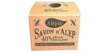 Alepia Jabón de Alepo 40% Laurel 190 g, el de alta gama de los ...