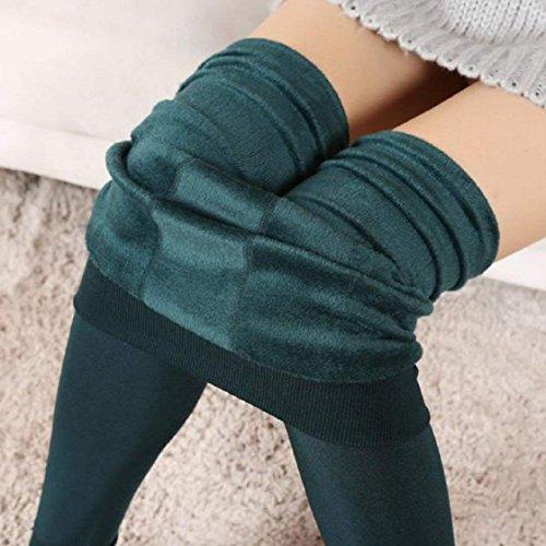 Épais Pantalons Pants Taille Unicolore Doux Élastique Warm Velours Confortables Elégante Grün Legging Hiver Dame Battercake Femme Mode Pantalon Casual Slim wAF8qFI