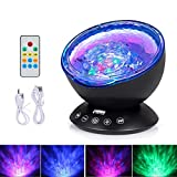 Ocean Wave Projector, Third A 12 LEDs 7Models Remote Controlled Ocean Wave Night Light Lamp with Music Player for Kids Adults Living Room Bedroom