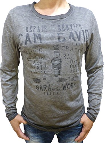 CAMP DAVID LANGARMSHIRT THE REPAIR SHOP BLACK DUST