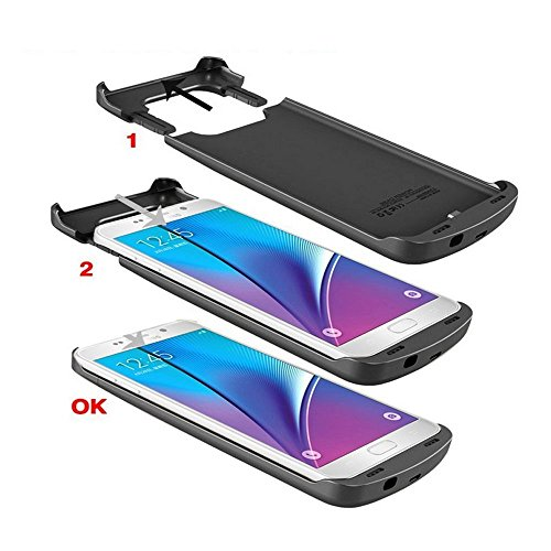 iAlegant Galaxy S6 Edge plus Battery scenario mobile or portable Backup electric power Bank scenario 4200mAh super thin Rechargeable Extended Charging scenario for Samsung Galaxy S6 Edge plus Black Charger Cases