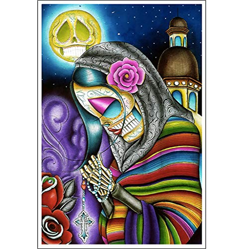 Pray for Us by Dave Sanchez Mexican Skeleton Tattoo Art Print Poster for Framing