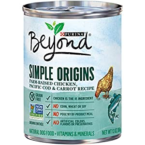 Purina Beyond Simple Origins Farm-Raised Chicken, Pacific Cod & Carrot Recipe Adult Wet Dog Food