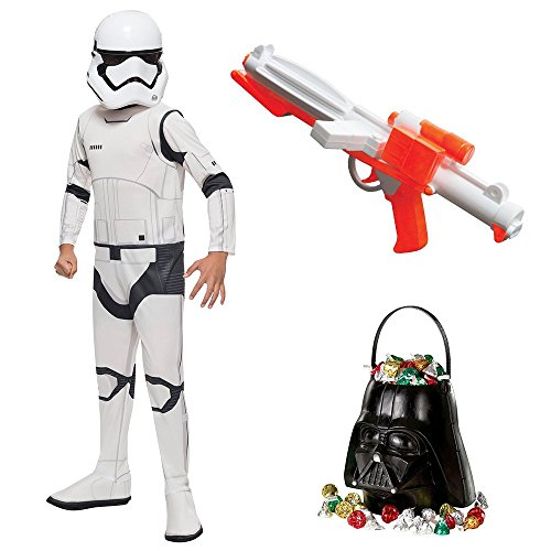Stormtroopers Outfit (Star Wars Episode VII: The Last Jedi - Storm Trooper Child Costume with Blaster and Candy Pail - L)