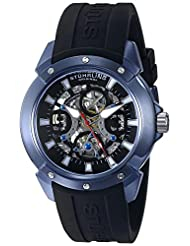 Stuhrling Original Men's 266.33X61 Leisure Crucible Analog Display Automatic Self Wind Black Watch