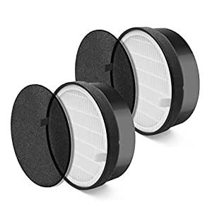 Levoit Air Purifier LV-H132 Replacement Filter (2 Pack), True HEPA and Activated Carbon Filters Set, LV-H132-RF