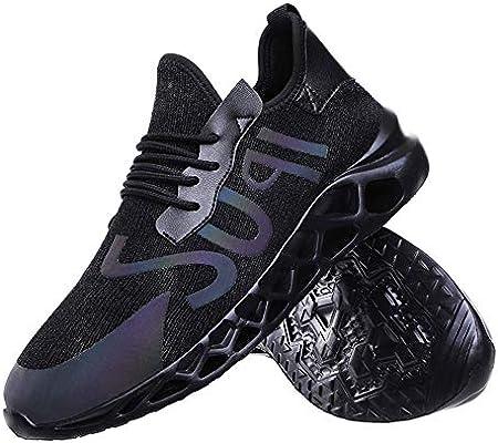 YWZQ Calzado de Running para Hombre, Zapatillas de Deporte de Gran tamaño Suelas amortiguadoras Suaves y cómodas Zapatillas de Malla Transpirable para Caminar Correr Ejercicio físico Diario,Black,41: Amazon.es: Hogar