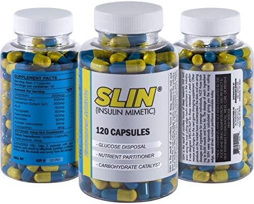 Enhanced Athlete Slin – Carb Blocker, Insulin Mimetic and Nutrient Practitioner to Support Muscle Strength – Promotes Turning Carbohydrates into Muscle – 120 Capsules
