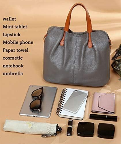 Poboom Elegante Impermeabile Genuine Leather Satchel Borsa Crossbody Spalla delle Donne Tote Bag Borsa con Il Sacchetto Interno per Le Donne del Partito di Viaggio,Nero