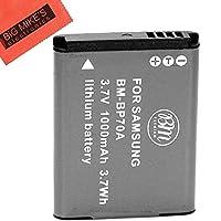 BM Premium BP-70A, BP70A Battery for Samsung DV150F, ES65, ES70, ES80, MV800, PL120, PL170, PL20, PL200, PL80, SL50, SL600, SL605, SL630, ST65, ST66, ST80, ST90, ST95, ST100, ST150F, ST700, TL105, TL110, TL205, WB30F, WB35F, WB50F Digital Camera