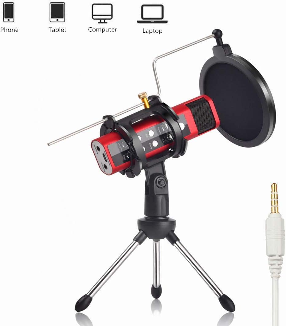 Micrófono cambiador de voz con tarjeta de sonido incorporada