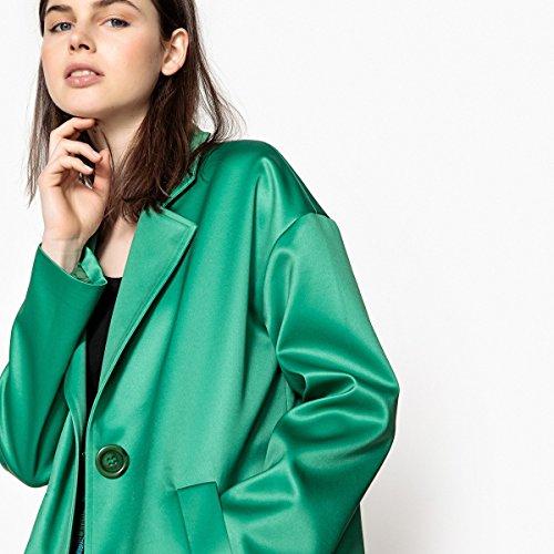 Verde Satinato Cappotto Redoute Donna Modello Ovoidale Collections 1ZxBH5a