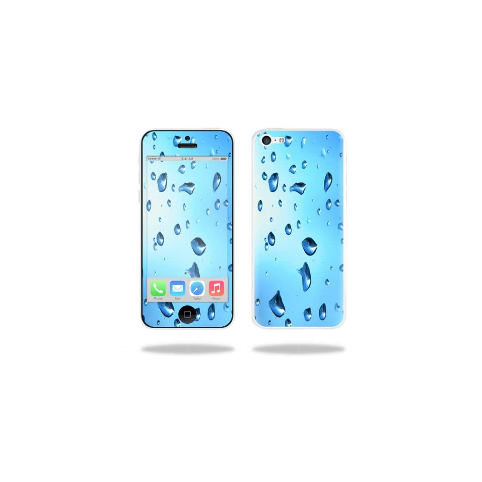 MightySkins Protective Vinyl Skin Decal Cover for Apple iPhone 5C Sticker Skins Water Droplets Cell Phones & Accessories