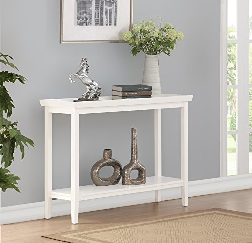 Convenience Concepts 501099W Console Table White