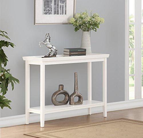 Convenience Concepts 501099W Console Table, White