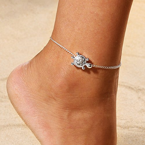 FIged Chain Tortoise Anklet Jewelry Beach Section Anklets Pendant Foot Jewelry for Women and Girls
