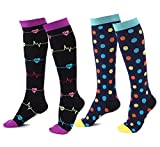 Cheap ATIMIGO Graduated Compression Socks for Women & Men 20-30 mmHg – Moderate Compression Stockings For Running, Crossfit, Travel, Nurse, Maternity Pregnancy,Anti-Fatigue