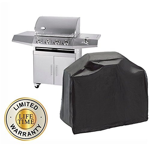 John Deere Garden Apron (57 Inch [Heavy Duty] [Waterproof] BBQ Grill Cover for Patio Barbecue Gas Smoker Outdoor. Durable Dustproof UV Protection (57''x24''x46'') Fit For Weber, Brinkmann, Char Broil, Holland and Jenn Air)