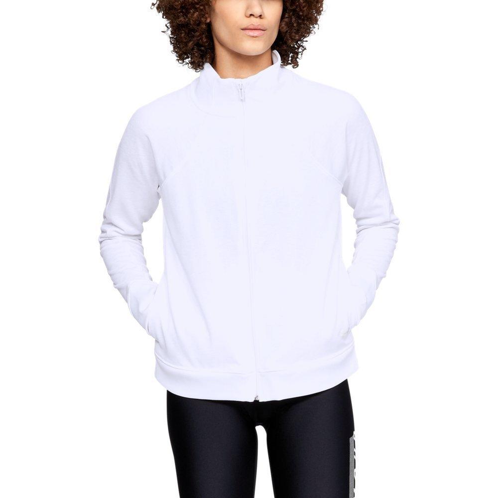 Under Armour Women's Synthetic Fleece Full Zip, White (100)/Tonal, X-Small