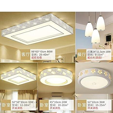 TIANLIANG Lámparas de LED, comedor de habitaciones, comedor ...