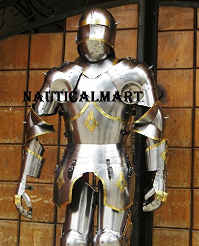 Medieval Knight Gothic Full Suit of Armor 15th Century Body Armour by NAUTICALMART (Image #1)