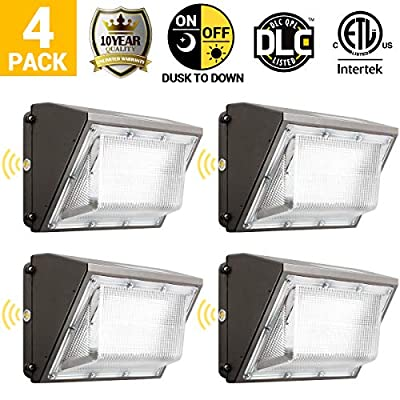 100W Led Wall Pack Light, Dusk to Dawn 2 Photocells for 120-277V, Outdoor Lighting, 5000K, 11000Lumen, Ip65 Waterproof Security Area Lighting
