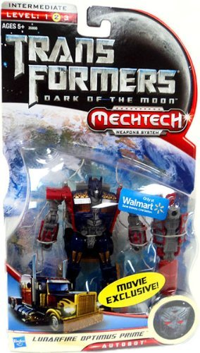 Hasbro Transformers Dark of the Moon Mechtech Lunarfire Optimus Prime Deluxe Action Figure (Optimus Prime Dark Of The Moon Toy)