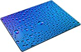 MSD Place Mat Non-Slip Natural Rubber Desk Pads design 23552068 l Waterdrops spectral gradient blue ocean sky purple colors rainbow colorful beading