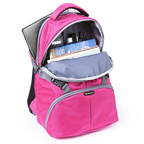 Zaino borsa per fotocamera, evecase custodia fotografica laptop ...