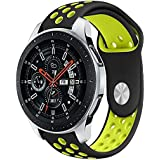 LNKOO Compatible Samsung Galaxy Watch (46mm) Bands, 22mm Width Soft Silicone Sport Band Replacement Strap Quick Release…