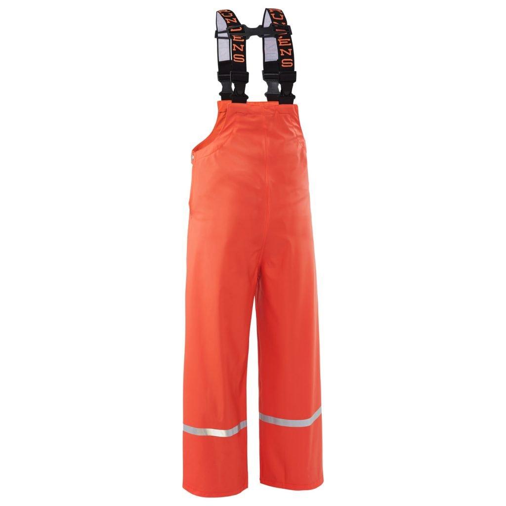 Grundens Zenith 117 Kid's Bibs, Orange, Size 12