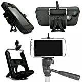 Mobile Cell Phone Desk Stand, Holder Tripod Adapter for iPhone 6 6+ Plus 5c 5s 5 4 4s Mount Clip Portable Connector Head Universal Smartphone Attachment for Samsung Galaxy S5 S4 S3 S2 Note 2 ** Unique and Cute Display Stand for making better Videos and Selfie Pics with your Cell Phone Camera** - DaVoice(TM)