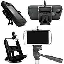 Cell Phone Tripod Adapter Mount and Desk Stand Holder for iPhone 7 SE 6S 6S Plus 6 6 Plus 5S 5C 5 4S 4 Samsung Galaxy S7 S7 Edge S6 S5 S4 S3 S2 and more by DaVoice