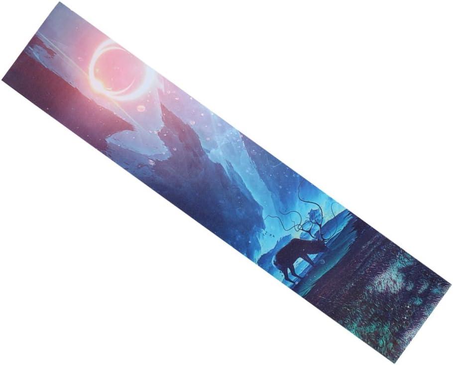 perfk 25x120cm Thick Skateboard Longboard Griptape Deck - 3
