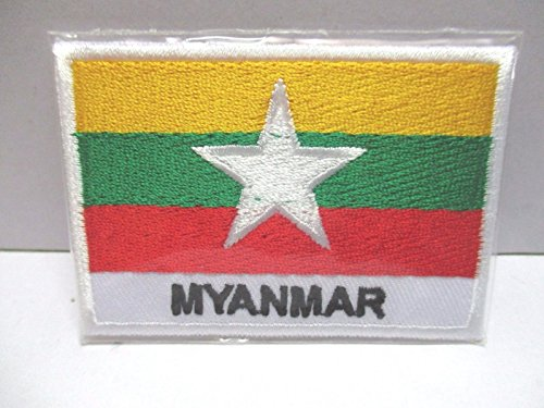 Myanmar Pennon Embroidered Patch Iron-On National Asia AEC
