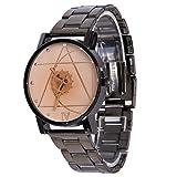 Fashion Mens White Stainless Steel Watches Retro Quartz Analog Wrist Watch offers